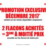 PROMO EXCLU DÉCEMBRE 2017 !