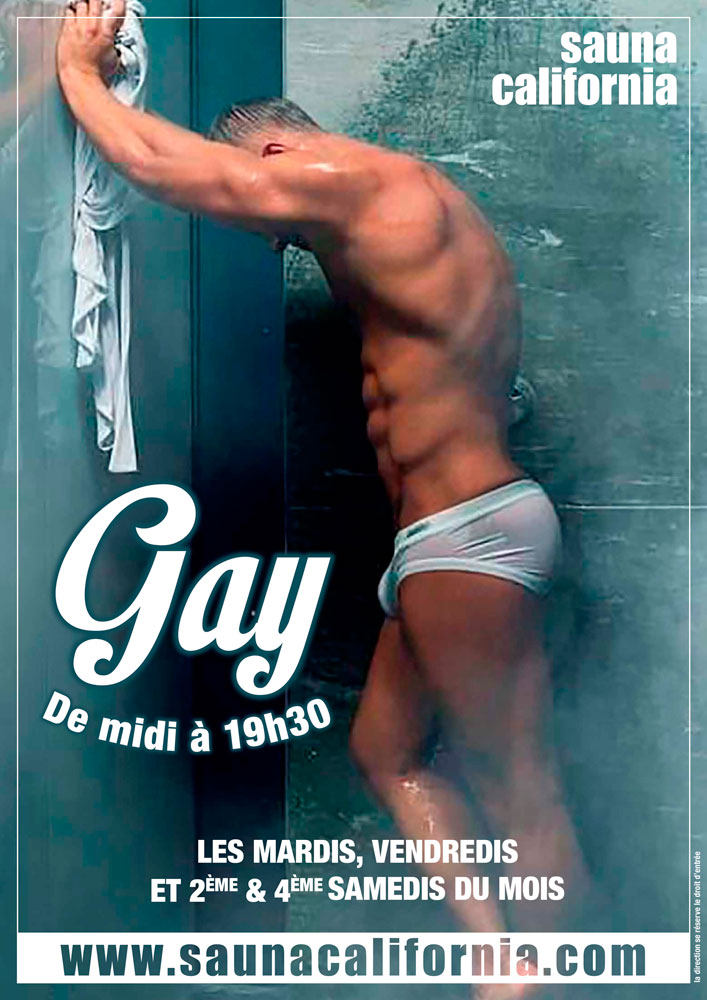 Gay midi 19h30 sauna california 7 novembre