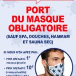 Port du masque dans tous les établissements clos recevant du public